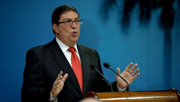"""El Ministro de Relaciones Exteriores de Cuba, Bruno Rodríguez Parrilla, dijo que responderá a EE.UU. """"de manera apropiada y oportuna""""por la expulsión de los diplomáticos. (Foto: AFP)"""