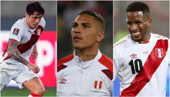 De a pocos Paolo Guerrero, Jefferson Farfán y Alberto Rodríguez (todos 36 años) están siendo reemplazados por otros apellidos en la selección peruana. (Foto: Collage EFE)