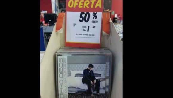 Twitter: 'trolean' venta del disco de Diego Dibós a un sol