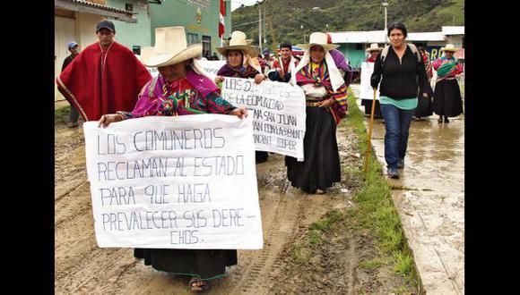 Comuneros insisten en impedir actividades mineras en Cañariaco