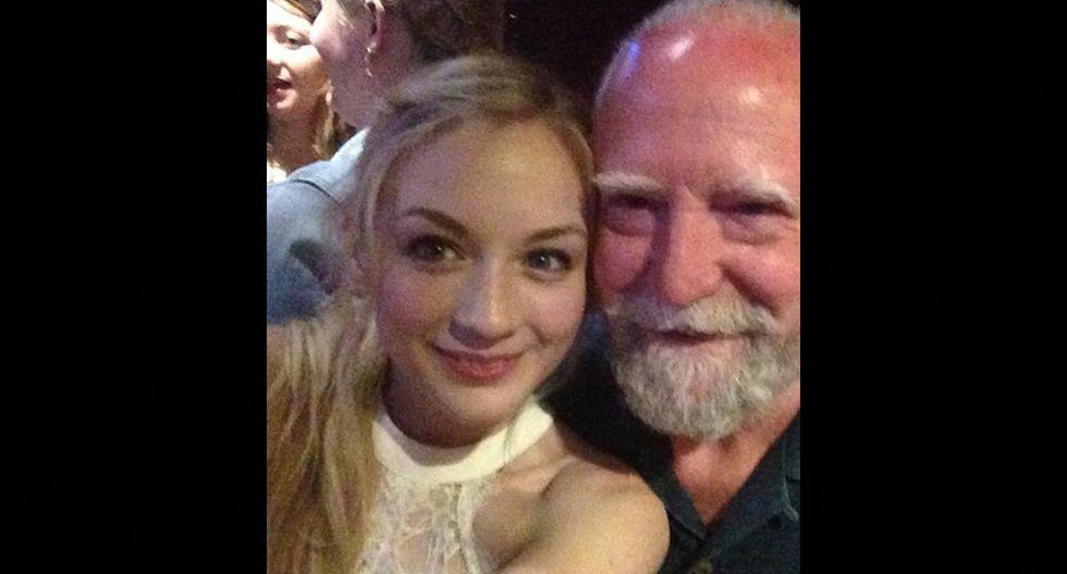 "Emily Kinney (Beth): ""El mejor papá de TV que una chica pudiese querer"". (Foto: Instagram)"