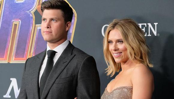 Scarlett Johansson contrajo matrimonio con el actor cómico Colin Jost, tras comprometerse en mayo de 2019 (Foto: Reuters)