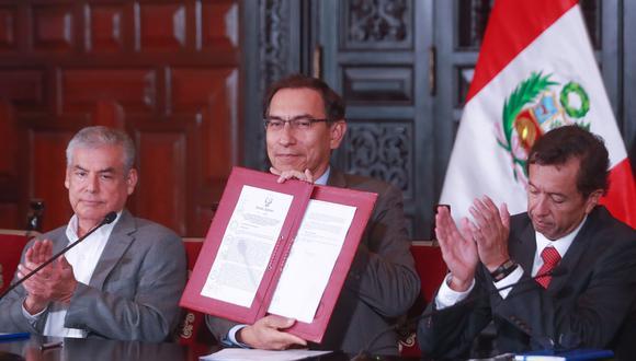 David Tuesta fue el cuarto ministro de Economía y Finanzas en los últimos dos años. Se alejó del Gabinete por discrepancias con Vizcarra y Villanueva sobre ISC.  (Foto: Presidencia)