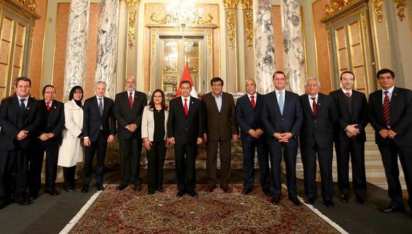 La ceremonia de suscripción del contrato de concesión del gasoducto sur peruano a las empresas Odebrecht  Latinvest y Enagás  se realizó en  las instalaciones de Palacio de Gobierno el 23 de julio del 2014. (Foto: Presidencia)