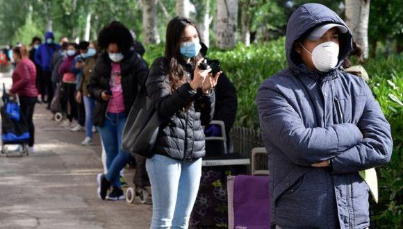 Cada vez hay más gente necesitada de ayuda en Madrid y otras ciudades españolas debido al coronavirus. (AFP).
