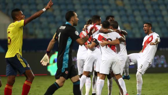 Perú sumó su primera victoria en la Copa América 2021 al vencer por 2-1 a Colombia | Foto: @SeleccionPeru