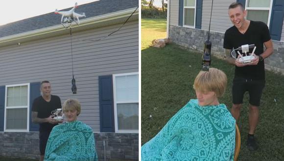 Hacerte un corte de cabello con un dron es pésima idea [VIDEO]