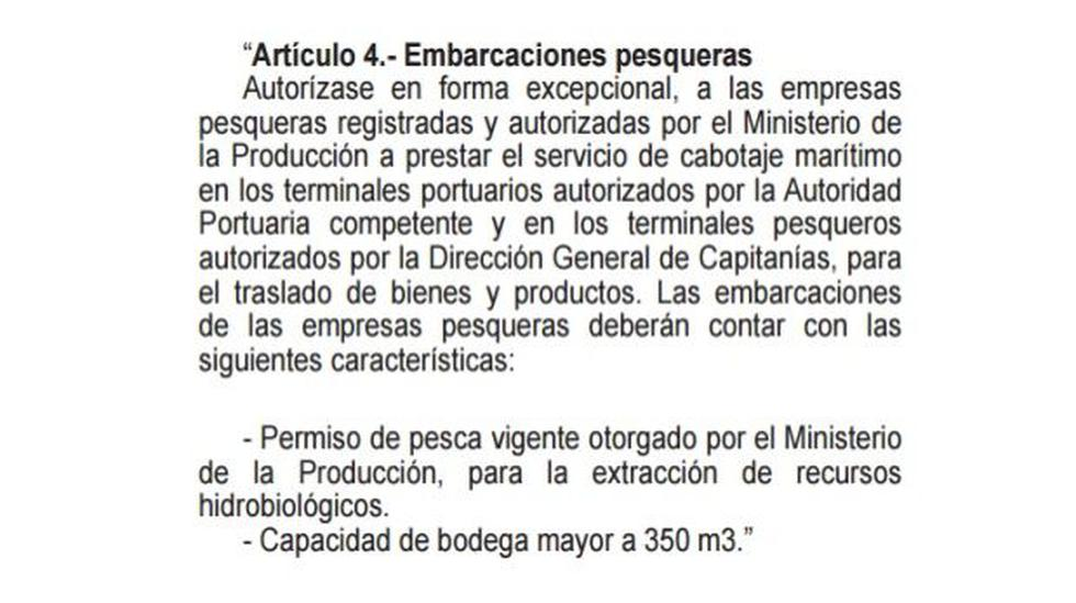 Transporte marítimo: Modifican permiso de cabotaje en el Perú - 2