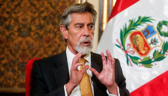 Presidente Francisco Sagasti le dio una entrevista a la agencia Reuters (Foto: Reuters)