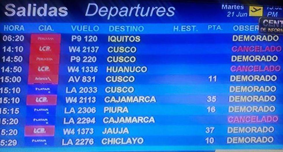 Jorge Chávez: cerraron pista hora y media por falla en aeronave - 2