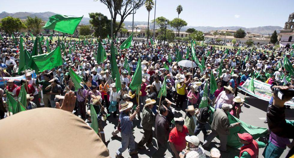 Realizaron protesta para exigir liberación de Gregorio Santos - 6