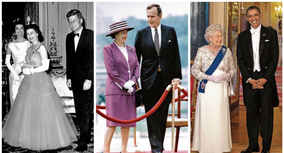 John F. Kennedy, George H.W. Bush y Barack Obama forman parte de la extensa lista de presidentes de Estados Unidos con los que la reina Isabel II se ha reunido. Joe Biden es el decimotercero. (Fotos: AP / AFP / AFP)