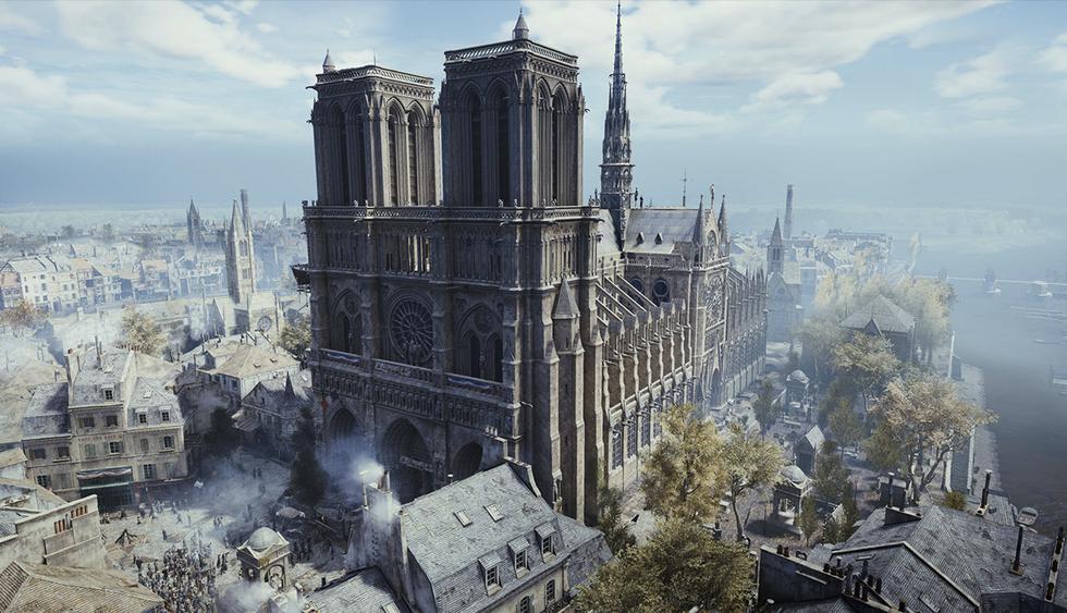 Tecnología usada para la creación de videojuego Assassin's Creed podría ayudar a la restauración de Notre Dame de París. (Ubisoft)