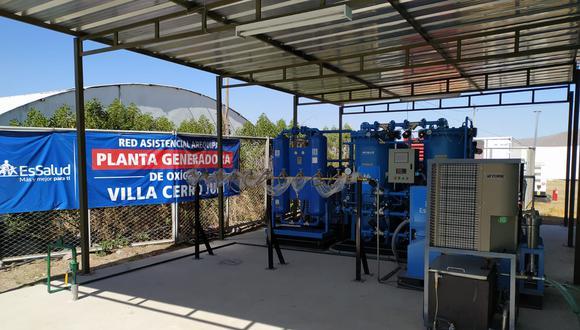Inauguran planta generadora de oxígeno en la Villa EsSalud Cerro Juli, en Arequipa | Foto: Essalud