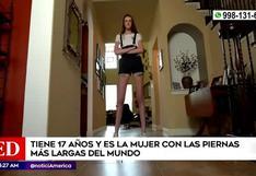 Estados Unidos: conoce a Maci Currin la adolescente con las piernas más largas del mundo