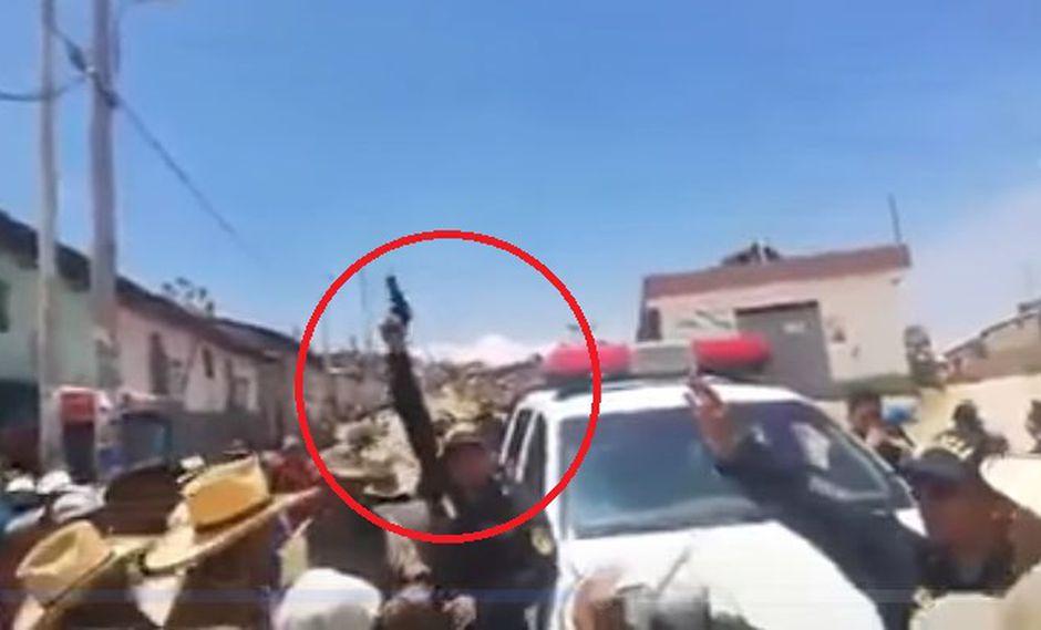 El incidente ocurrió durante el primer día de paro de 72 horas iniciado por trabajadores de empresas mineras. (Captura: Canal N)