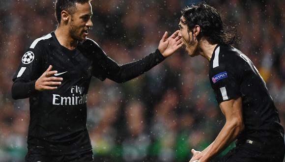 Neymar habría exigido  la salida del PSG de Edinson Cavani al jeque Al-Khelaifi. La mala relación entre el uruguayo y el brasileño se vuelve indisimulable. (Foto: AFP)