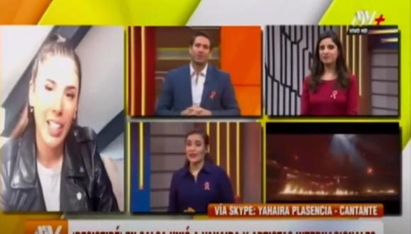 Yahaira Plasencia no quiso hablar de Jefferson Farfán en reciente entrevista. (Foto: Captura ATV)