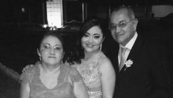 La profesora Francisca Katiane do Nascimento y sus padres Francisco Canindé Nunes do Nascimento y María Francisca Nunes do Nascimento fallecieron de coronavirus en Brasil. (Archivo familiar).