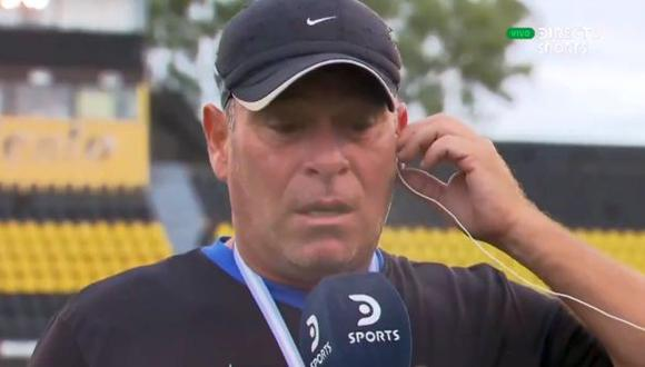 El entrenador de Atlas, club que logró hoy el ascenso a la categoría C de Argentina.