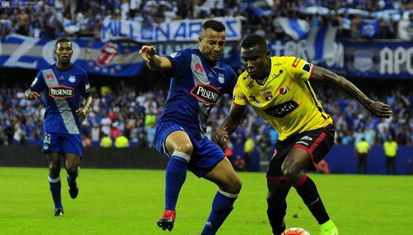 Barcelona y Emelec chocan en una nueva edición del 'clásico del astillero', por la fecha 28 de la LigaPro de Ecuador. | Foto: AFP