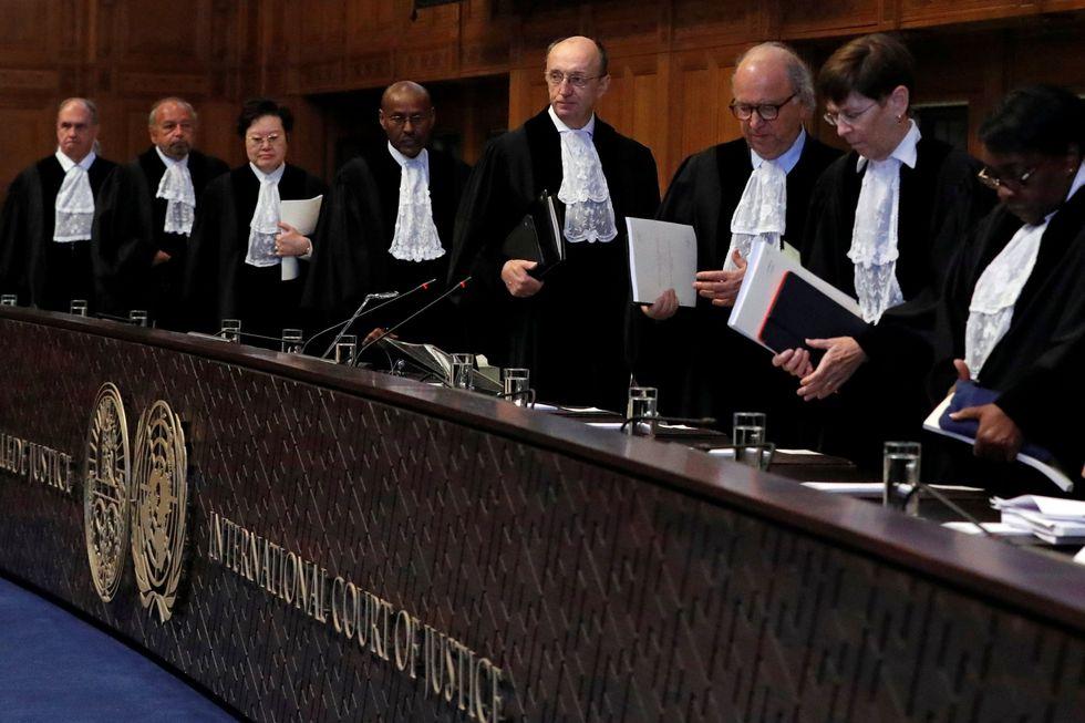 Los jueces de la Corte Internacional de Justicia. (Reuters).