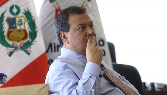 """""""Yo como ministro debo dar las explicaciones que tenga que dar y en este caso también"""", sostuvo el ministro de Defensa Jorge Nieto. (Foto: El Comercio)"""