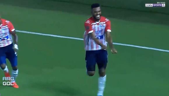 Gol de Junior: Miguel Borja y el 1-0 a favor del cuadro colombiano frente a Bolívar   VIDEO