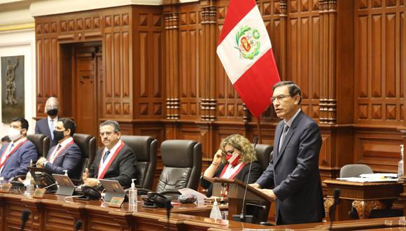 El discurso del presidente Vizcarra no agradó a varias bancadas. (Foto: Congreso)