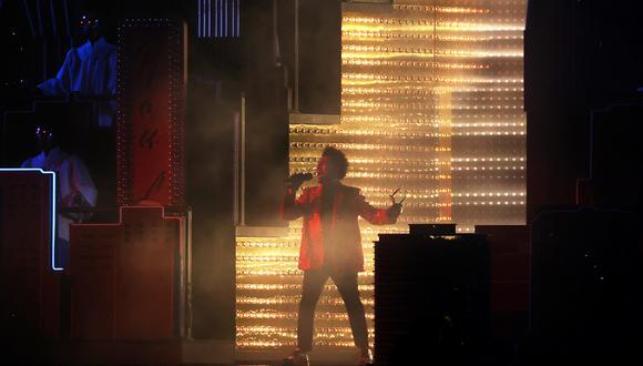 The Weeknd fue el artista encargado de brindar el espectáculo de medio tiempo   Foto: captura