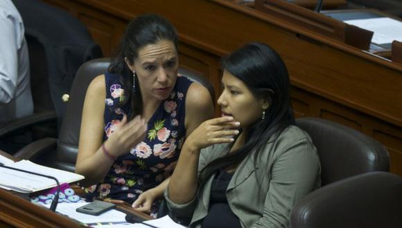 Marisa Glave e Indira Huilca renunciaron a la agrupación liderada por Verónika Mendoza tras alianza con el partido Perú Libre. (Foto: GEC)