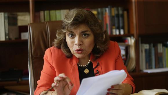 """""""Quieren desvirtuar, desprestigiar, deslegitimar la labor que venimos haciendo"""", aseguró la fiscal de la Nación. (Foto: GEC)"""