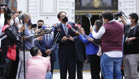 El expresidente Martín Vizcarra indicó que su gobierno estaba en conversaciones con cuatro laboratorios cuando el Legislativo lo vacó del cargo. (Foto: Anthony Niño de Guzman / @photo.gec)