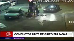 VMT: Conductor llena tanque de su vehículo y huye sin pagar