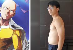 Hombre decide seguir la rutina de Saitama de 'One Punch Man' y el resultado se vuelve viral