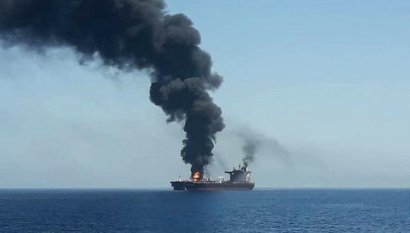 """""""Hemos recibido un informe que señala que algo voló hacia el navío, luego hubo una explosión y provocó un agujero"""", añadió Yutaka Katada. (Foto: EFE)"""