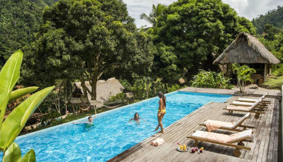 Pumarinri Amazon Lodge, Tarapoto.  Rodeado de bosques y ríos, este lodge en Tarapoto es otro de los hospedajes que encantan. Su piscina está rodeada de árboles y la inmensidad de nuestra Amazonía.  (Foto: Facebook Pumarinri Amazon Lodge)