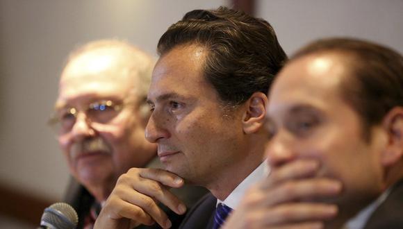 En esta fotografía del 17 de agosto de 2017, Emilio Lozoya, exdirector de la petrolera paraestatal de México, asiste a una conferencia de prensa en la Ciudad de México. (AP Foto/Gustavo Martinez Contreras, Archivo).