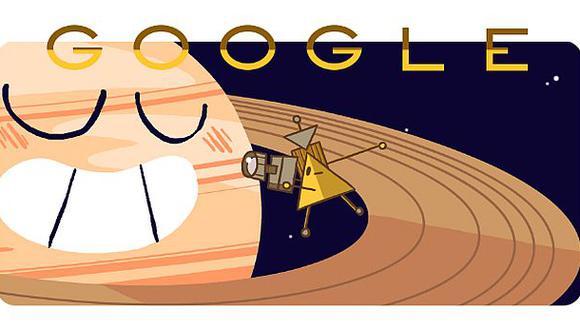 Llegada de la sonda Cassini a Saturno es festejado por Google