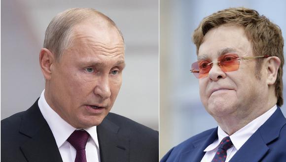 Vladimir Putin responde a Elton John que se equivoca respecto al trato a los LGBT en Rusia | Día del Orgullo LGBT. (AP).