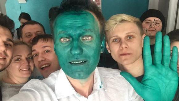Esta es la imagen del primer ataque que sufrió hace unas semanas en Rusia. (Foto: Twitter @nalvany)