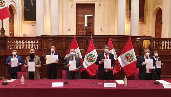 Bancada de Acción Popular indicó que por temas de la pandemia no presentaron sus declaraciones juradas con anterioridad. (Foto: Congreso)