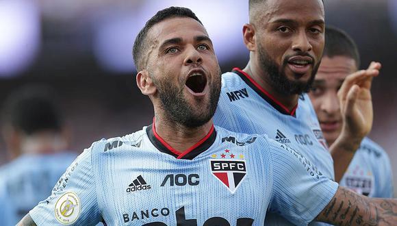 Dani Alves llegó a Sao Paulo en la temporada 2019. (Foto: EFE)