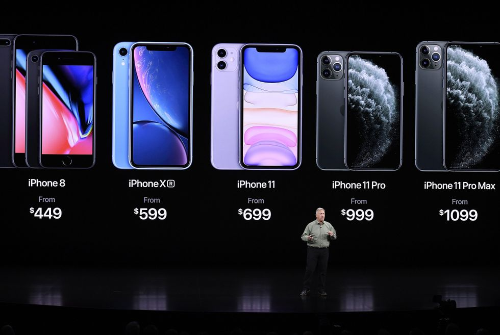 iPhone 11. Apple presenta su nueva generación de celulares. (AFP)