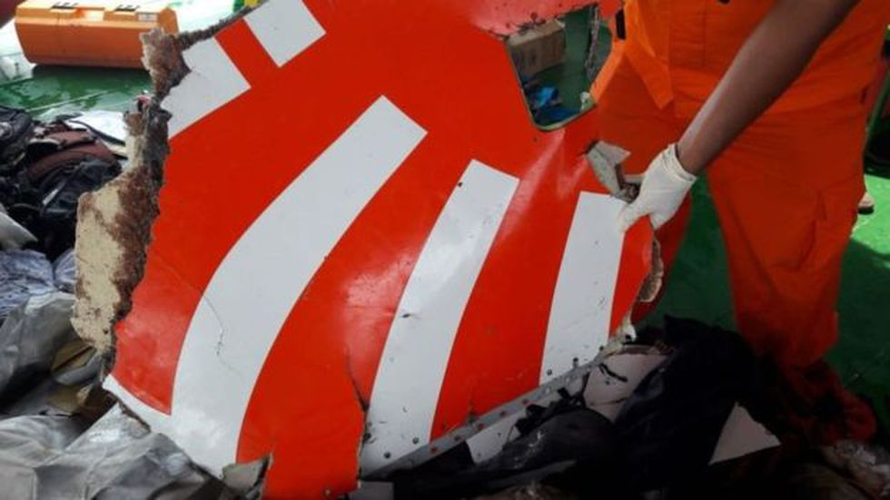 La aeronave quedó completamente destrozada.