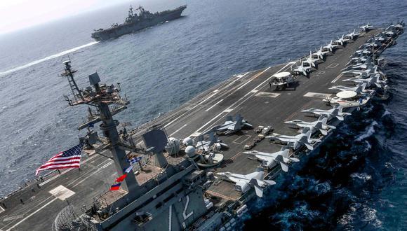 """Irán puede hundir los portaaviones de Estados Unidos con sus """"armas secretas"""", dice general Morteza Qorbani. (AFP)."""