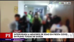 Callao: Intervienen a menores de edad en fiesta COVID