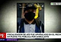 Ate Vitarte: fiscalizador fue apuñalado durante operación contra ambulantes | VIDEO
