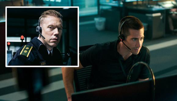 """Jakob Cedergren (izq.) protagonizó """"The Guilty"""" original. Jake Gyllenhaal hace lo propio en el 'remake' de la película que estrenará Netflix."""
