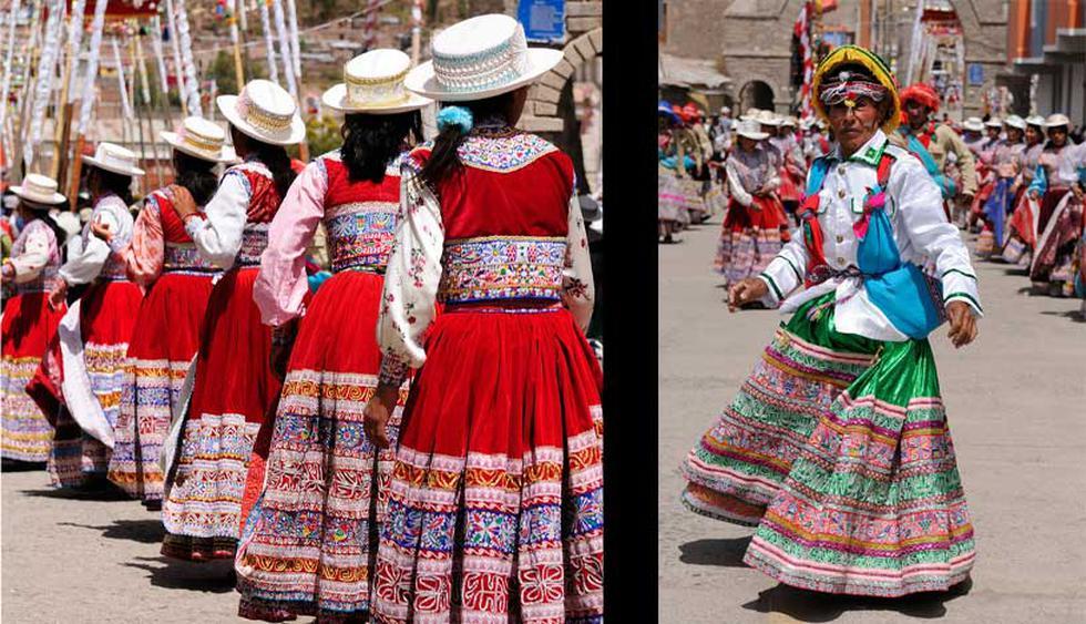 3. El baile del Wititi (Arequipa): Se trata de un ritual amoroso. Es interpretado por jóvenes parejas durante el inicio del ciclo de producción agrícola (de enero a marzo) en el valle del Colca, ya que representa la fertilidad. (Fotos: Shutterstock)